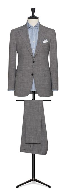 blue-white faux uni wool-silk with blue windowpane made to measure grooms wedding suit Made To Measure Suits, Linen Suit, Bespoke Tailoring, Ideal Fit, Modern Man, Wedding Suits, Taupe, Beige, Suit Jacket