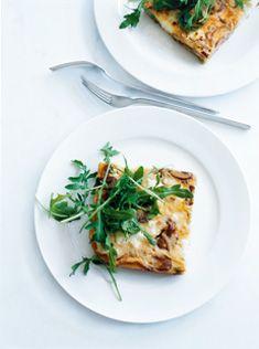 leek, ricotta and mushroom frittata - recipes - donna hay