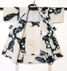 Inside of child's repaired yukata-- Daily Japanese Textile