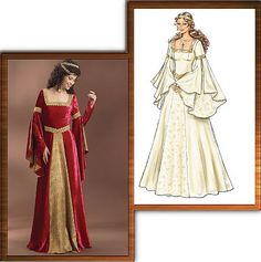 Medieval Dress Pattern $15.50 #clothing #fashion #dress #gown #historical