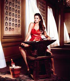 Bold- nice.  Penelope Cruz is Red Hot in the 2013 Campari Calendar