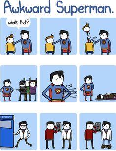 Awkward Superman!
