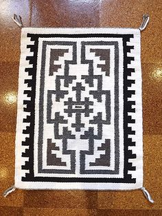 Two Grey Hills Rug by Gladys Kody (Navajo) - Modern Native American Blanket, Native American Rugs, Native American Patterns, Native American Beading, Navajo Weaving, Navajo Rugs, Weaving Patterns, Quilt Patterns, Indian Crafts
