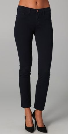 """J Brand -- """"Aubergine"""" jeans. these look and feel awesome but they are of an unfortunately poor quality. all of mine had ripped within a few months! but still, they look great. Mid Rise Skinny Jeans, Skinny Pants, Looks Quotes, Fall Lookbook, Slow Fashion, J Brand, My Wardrobe, Everyday Fashion, Wardrobe Organiser"""
