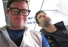 Will and RJ and another crying baby on the plane