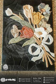 #3D #Çiçek #Demeti 3D #Flower #Bundle