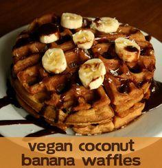 #Vegan Coconut Banana Waffles
