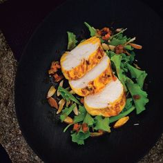 Recipe for Saffron Marinated Chicken Breast And Baby Greens Salad : La Cucina Italiana
