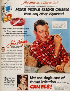 John Wayne died of lung cancer.