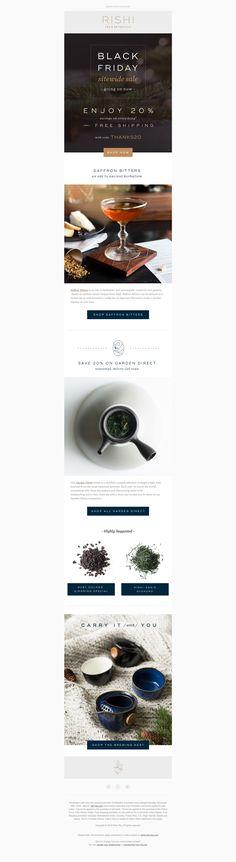Rishi Tea Black Friday 2018 Rishi Tea, E Design, Black Friday, Concept