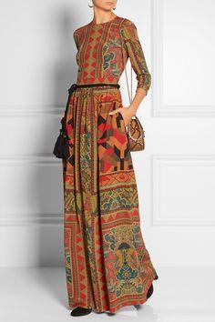 Etro | Printed silk-crepe gown | NET-A-PORTER.COM