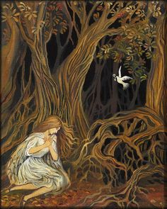 The Key Brothers Grimm Fairy Tale Goddess Art 8x10 by EmilyBalivet, $15.00