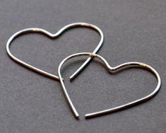 Del's Heart Earrings - Modern Simple Contemporary Simple Sleek Elegant Design by Epheriell