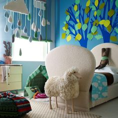 whimsical kid's bedroom #decor #nursery