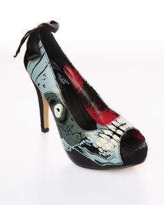 """I told myself I could only have one pair of 5"""" zombie heels, so of course I had to get the ones that glow in the dark..."""
