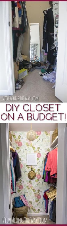 Stunning closet makeover and a million brilliant ideas to steal for your home! Stunning closet makeover and a million brilliant ideas to steal for your home! Master Closet, Closet Bedroom, Closet Space, Home Bedroom, Closet Redo, Bedrooms, Organizar Closets, Glam Closet, Casa Clean