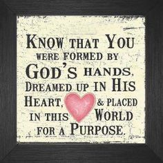 Daughter of God, know that you were formed by God's hands, dreamed up in His heart and placed in this world for a purpose. Click the picture for beautiful, ready to frame Bible verse prints. Bible Verse For Daughter, Daughter Of God, Daughter Quotes, Bible Verse For Birthday, Happy Birthday Quotes For Daughter, Daughter Birthday, Bible Quotes, Bible Verses, Gospel Quotes