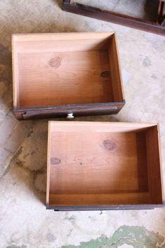 Rotto♪古い引き出し2杯付きダイヤガラス戸の収納棚 食器棚本棚_画像2