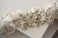 Heirloom Wedding Garter Set    Isla Pearls Made by EnrichbyMillie, $110.00