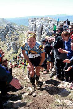Nuria Picas en Zegama Aizkorri 2013. Copa del Mundo Skyrunning. Foto: Kataverno.