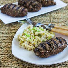 Hamburger Kebabs (Kabobs) Recipe from Kalyn's Kitchen