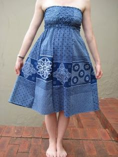 Awesome Fabric from South Africa: strapless shwe shwe dress