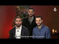 Sergio Ramos Real Madrid players wish you a Merry Christmas and a Happy New Year!
