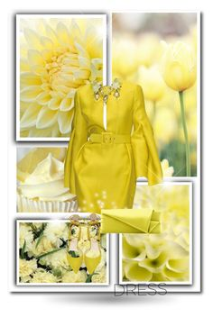"""In La La Land: Yellow Dresses"" by dezaval ❤ liked on Polyvore featuring Gucci, Christian Louboutin and Steve Madden"