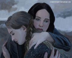 Hunger Games Fan Art / Prim / Katniss Everdeen / Catching Fire
