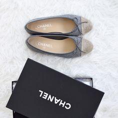 2e5ba75f77a778 For the WIN Chanel flats grey beige GREIGE Flache Schuhe Chanel