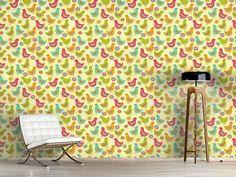 Design #Tapete Die Glücklichen Hühner https://www.wallprints.com/de/pg/Tapeten/p/Designtapete-Die-Gluecklichen-Hühner-33419