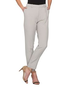 This Flint Gray Twill Ankle Pants - Plus Too is perfect! #zulilyfinds