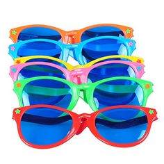 Seekingtag Colorful Jumbo Blue Lens Sunglasses for Costumes Cosplay Halloween Party Fun Party Favor Photo Booth Props – Party Pack of 6 10 X 4 >>> Be sure to check out this awesome product. (This is an affiliate link) Halloween News, Halloween Party, Cosplay For Sale, Nautical Wedding Favors, Wedding Sunglasses, Fun Games For Kids, Kid Games, Halloween Costume Accessories, Photo Booth Props