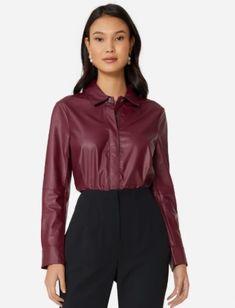 Moda Online, Ideias Fashion, Athletic, Zip, Leather, Jackets, Women, Style, Products