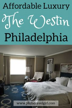 The Westin Philadelphia oozes refined luxury with its stylish and modern decor but is also surprisingly affordable. Centrally located, the Westin Philadelphia is an excellent accommodation option that is close to Philadelphia's  attractions. he Westin Philadelphia continues to be one of my favorite hotels in the city.   PhilaTravelGirl #thewestin   #luxury #philadelphia