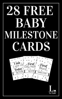 Your baby's early years are filled with memorable moments, here are 28 free baby milestone printable photo cards, you can capture and remember them as the years go by. Click for a quick and easy instant download or pin and save for later.