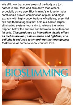 #wrap#bio-slimming#wellness#cellulite#inch loss#weight loss Now being offered at A Touch Above