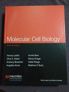 NEW INTL EDITION Molecular Cell Biology by Lodish (7th Edition) Presents the key concepts in cell biology. The new edition incorporates many of the specyacular advances made in the past 4 years