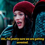 Um, I'm pretty sure we're getting arrested. #quotes