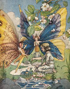 Harold Gaze. If I Could Fly. Vintage Fairy Art Print Illustration