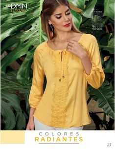 Dominio / Campaña 14 - 15 / 2017 Blouse Styles, Blouse Designs, Casual Dresses, Short Dresses, Fashion Outfits, Fall Outfits, Womens Fashion, Sweater And Shorts, Elegant Outfit