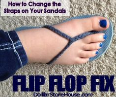 How to Change the Straps on Your Sandals