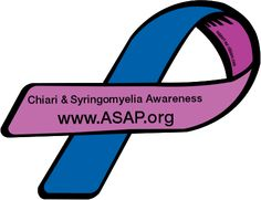 Custom Ribbon: Chiari & Syringomyelia Awareness / www.ASAP.org