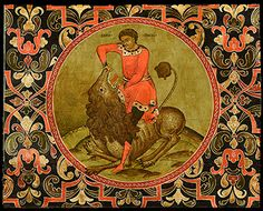 Samson Fighting the Lion c. Greek Icons, Russian Icons, Byzantine Icons, Stage Design, Ikon, Scene, Gallery, 18th, Painting