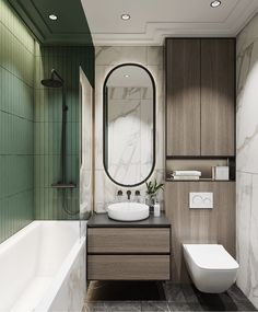 70 Suprising Small Bathroom Design Ideas And Decor Bathroom Layout, Modern Bathroom Design, Bathroom Colors, Bathroom Interior Design, Mirror Bathroom, Green Bathrooms, Bathroom Ideas, Bathroom Small, Bathroom Remodeling
