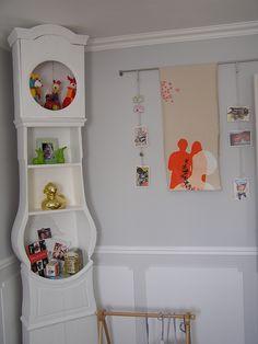Grandfather esque clock style shelf