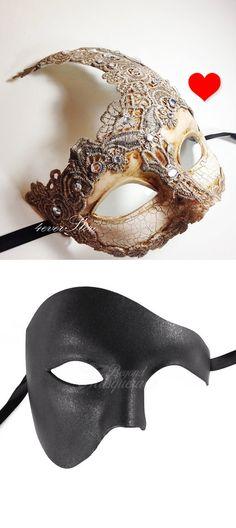 Prom Carnival mardi gras midnight Masquerade Ball Halloween metal Skull  Mask