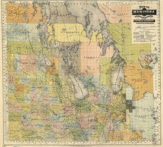 Map of Manitoba 1900
