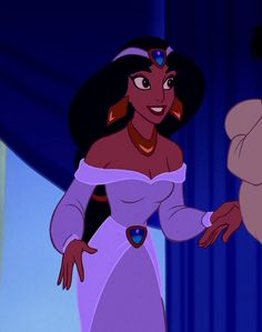 "Princess Jasmine (Linda Larkin) from Disney's ""Aladdin"" Disney Pixar, Disney Animation, Disney And Dreamworks, Disney Love, Disney Characters, Disney Villains, Disney Princesses, Jasmine E Aladdin, Aladdin 1992"