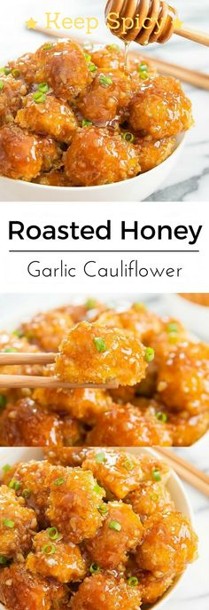 Garlic and honey are the best combination I could ever imagine in any dish, So today we have Roasted Cauliflower with addition to honey garlic sauce